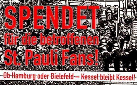 Auswärts im Kessel – Spendet für die betroffenen St. Pauli-Fans!