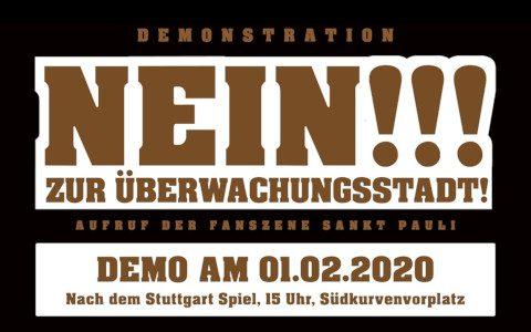 Demo am 01.02.20: Nein zur Überwachungsstadt!