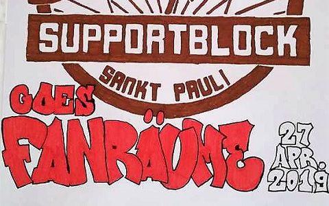 Supportblock goes Fanräume